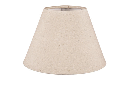 XXS Taper Lamp Shade (8x5x5 H) - Dark Natural Linen - Linen Lamp Shade with E27 Fixture
