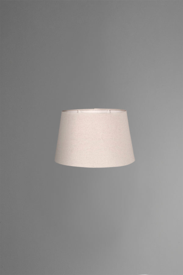 Medium Oval Lamp Shade (14x9 x 11x6 x9 H) - Textured Ivory - Linen Lamp Shade with B22 Fixture
