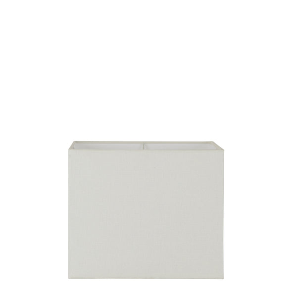 Small Square Lamp Shade (12x12x10 H) - Textured Ivory - Linen Lamp Shade with E27 Fixture