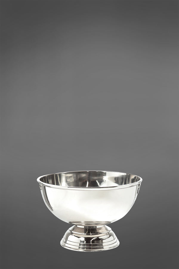 Basin Wine Cooler - Shiny Nickel - Cast Metal Wine Bucket