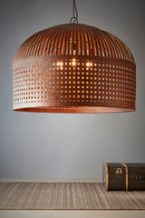 Esch Extra Large - Rust - Woven Iron Strips Pendant Light