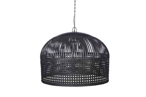 Esch Extra Large - Antique Black - Woven Iron Strips Pendant Light
