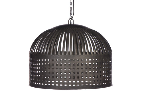 Esch Large - Antique Black - Woven Iron Strips Pendant Light