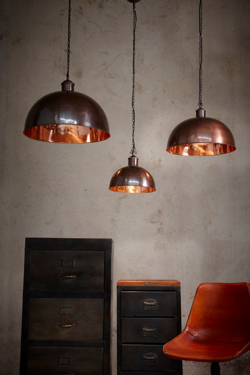 Essen Medium - Antique Copper - Domed Solid Copper Pendant Light