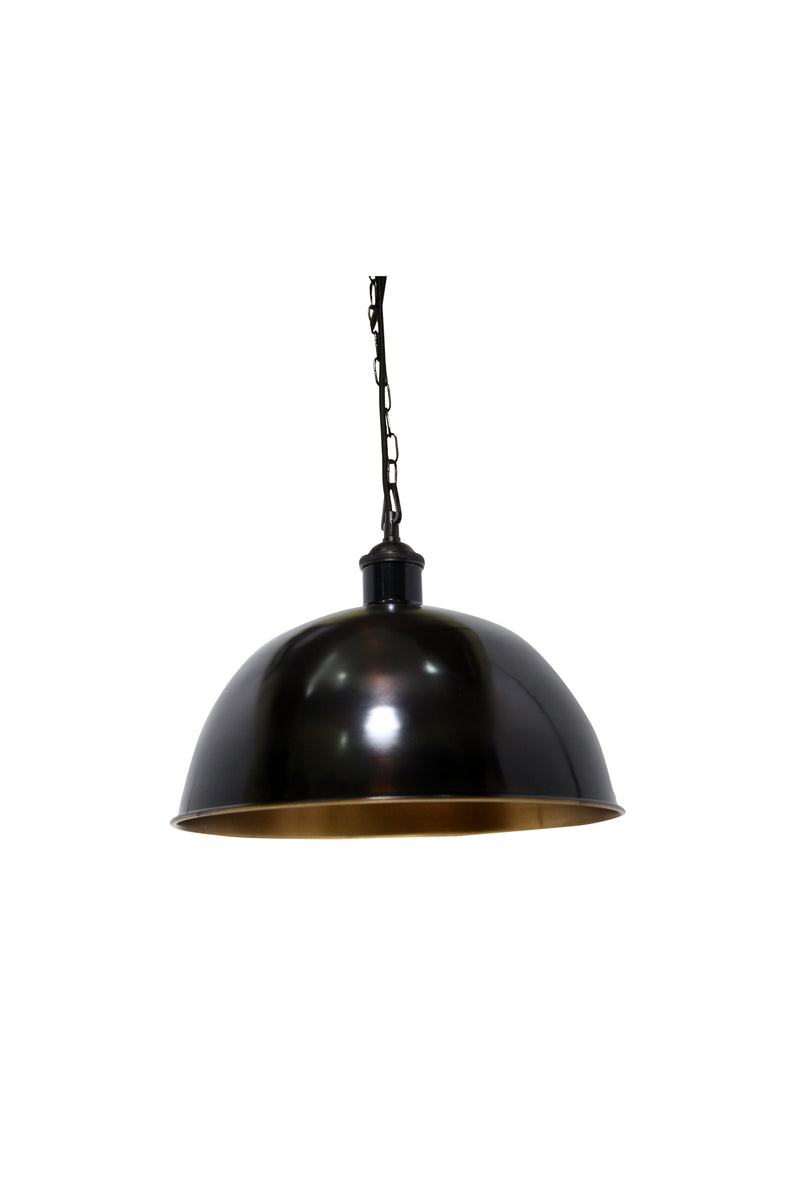 Essen Medium - Antique Brass - Domed Solid Brass Pendant Light