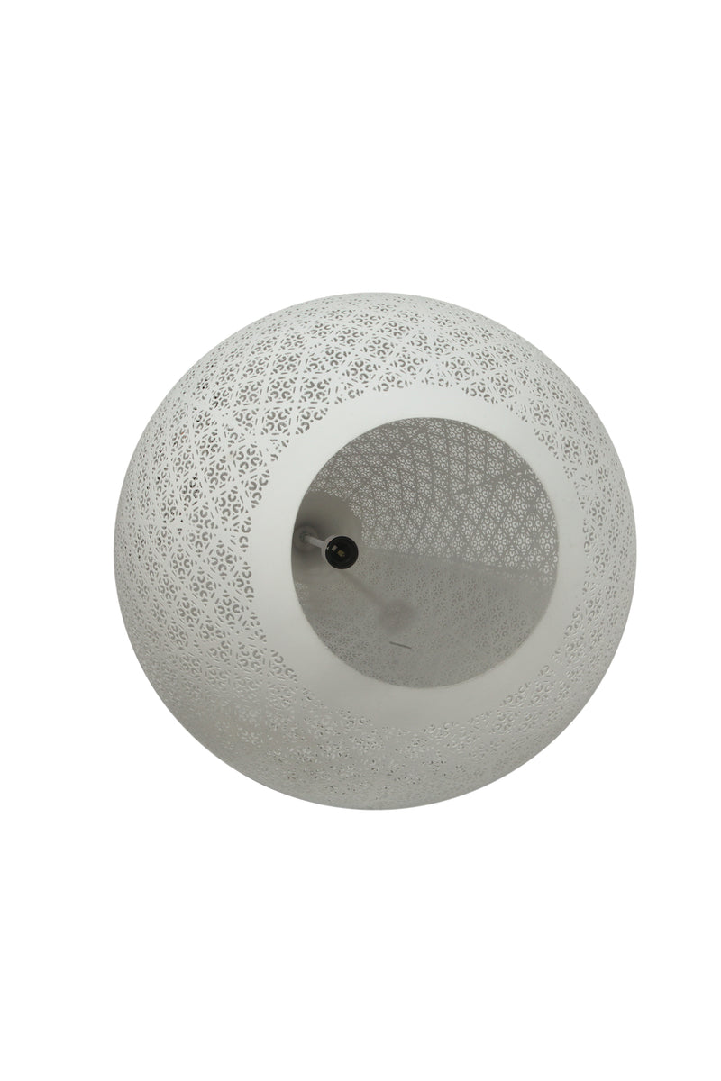 Europa Large - White - Perforated Teardrop Pendant Light