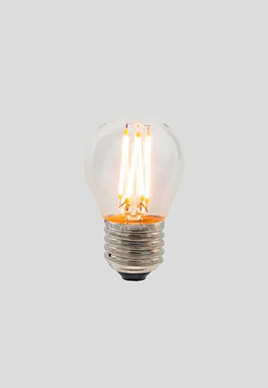 G45 Fancy Round E27 LED Filament - Clear Glass - 3W E27 2200k
