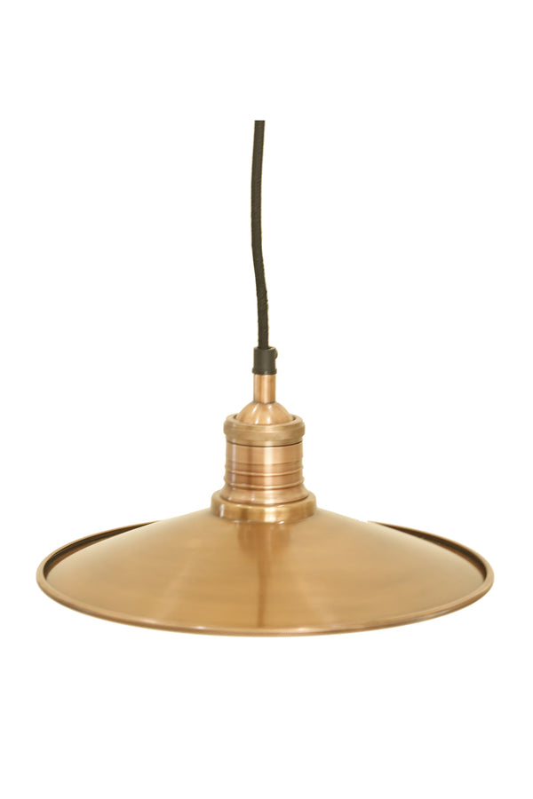 Forbes 2 Small - Antique Copper - Dish Pendant Light