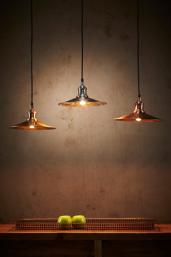 Forbes Small - Antique Brass - Dish Pendant Light