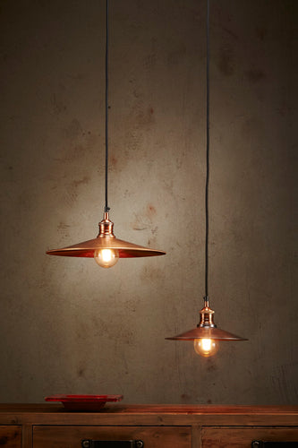 Forbes Small - Antique Copper - Dish Pendant Light