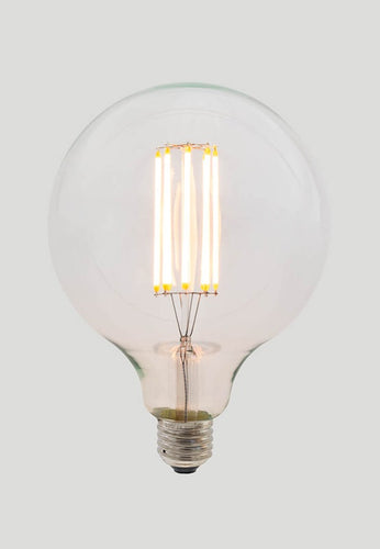 G125 Long LED Filament - Clear Glass - 8W E27 2200k