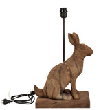 Garfunkel - Dark Natural - Large Wooden Rabbit Table Lamp