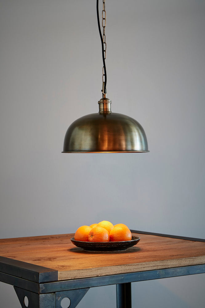 Jena - Antique Brass - Domed Solid Brass Pendant Light