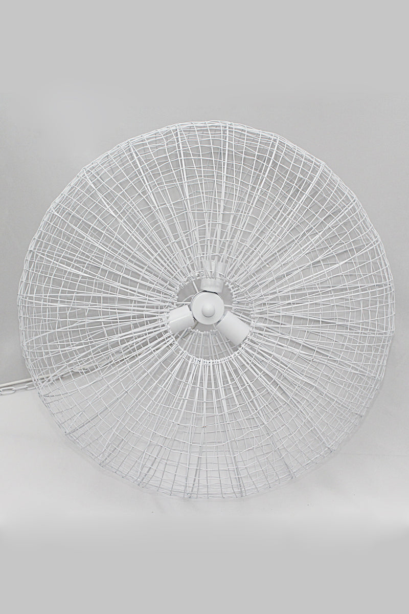 Lobster - White - Wire Weave Ellipse Pendant Light