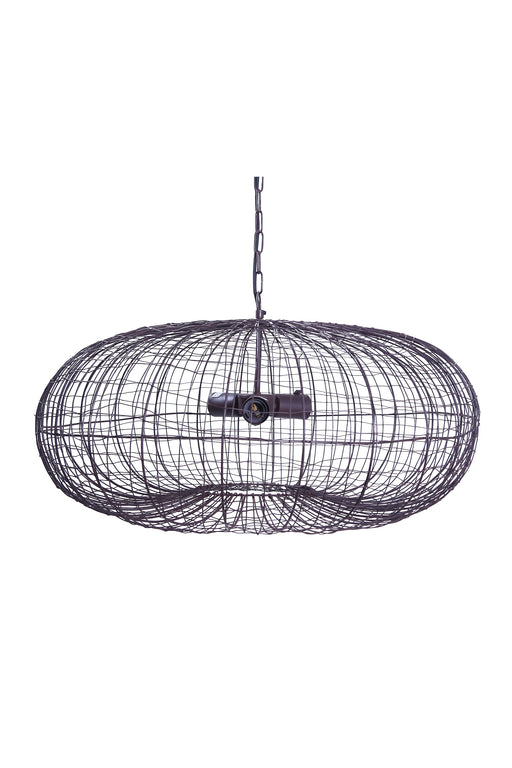 Lobster - Antique Copper - Wire Weave Ellipse Pendant Light