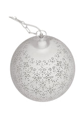 Luna - White - Perforated Round Pendant Light