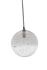 Lustre Ball - Clear - Stone Effect Glass Ball Pendant Light