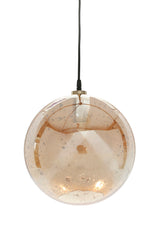 Lustre Ball - Pale Gold - Stone Effect Glass Ball Pendant Light