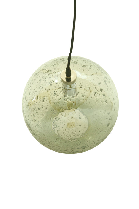 Lustre Ball - Pale Green - Stone Effect Glass Ball Pendant Light