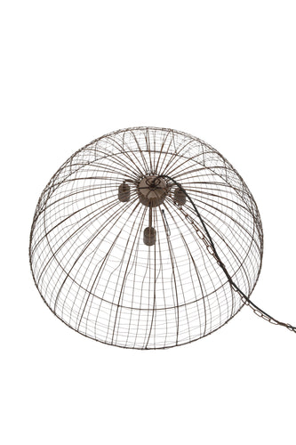 Cray Dome - Antique Copper - Wire Weave Dome Pendant Light