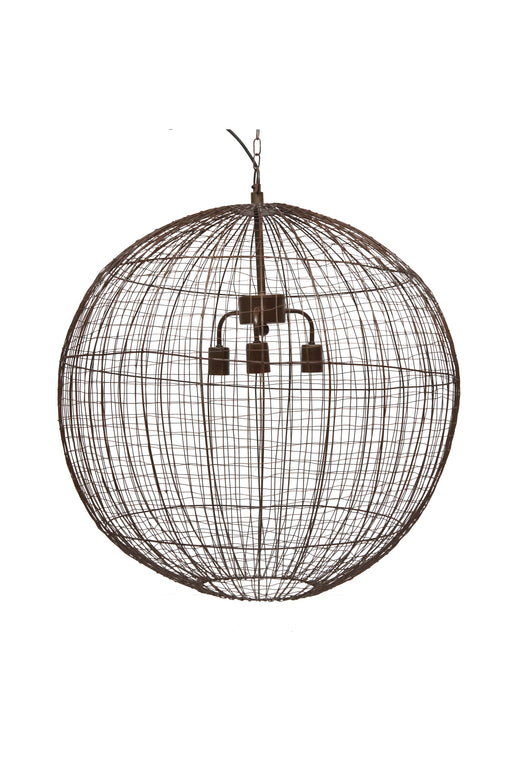 Cray Ball Large - Antique Copper - Wire Weave Ball Pendant Light