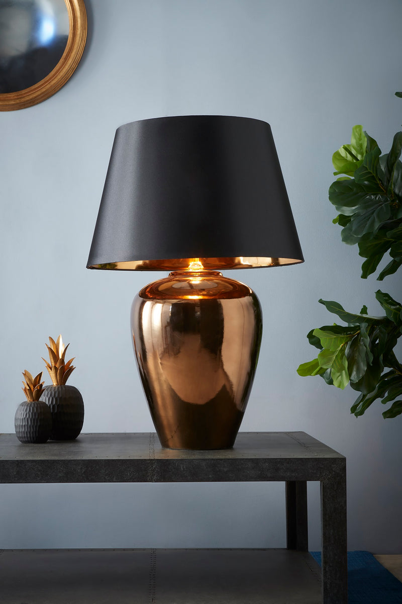 Manhattan Large - Gold - Large Urn Ceramic Table Lamp