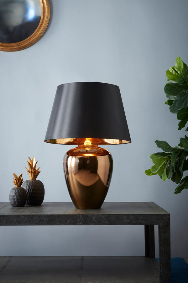 Manhattan Small - Gold - Large Urn Ceramic Table Lamp