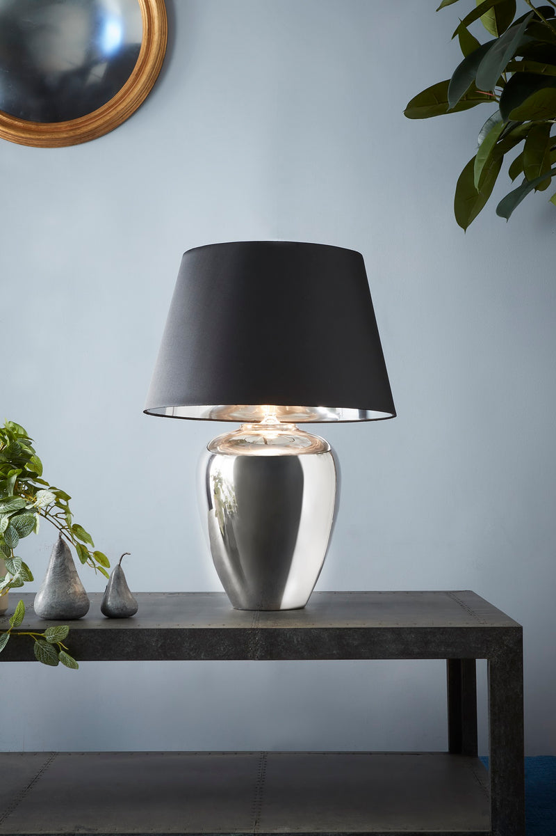 Manhattan Small - Silver - Large Urn Ceramic Table Lamp