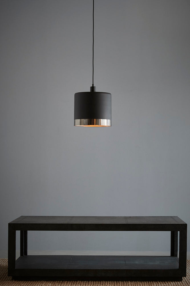 Montreux Large - Black/Nickel - 2 Tone Drum Pendant Light