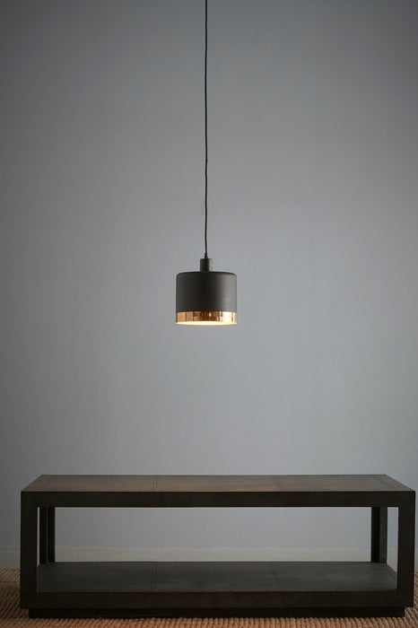 Montreux Medium - Black/Gold - 2 Tone Drum Pendant Light