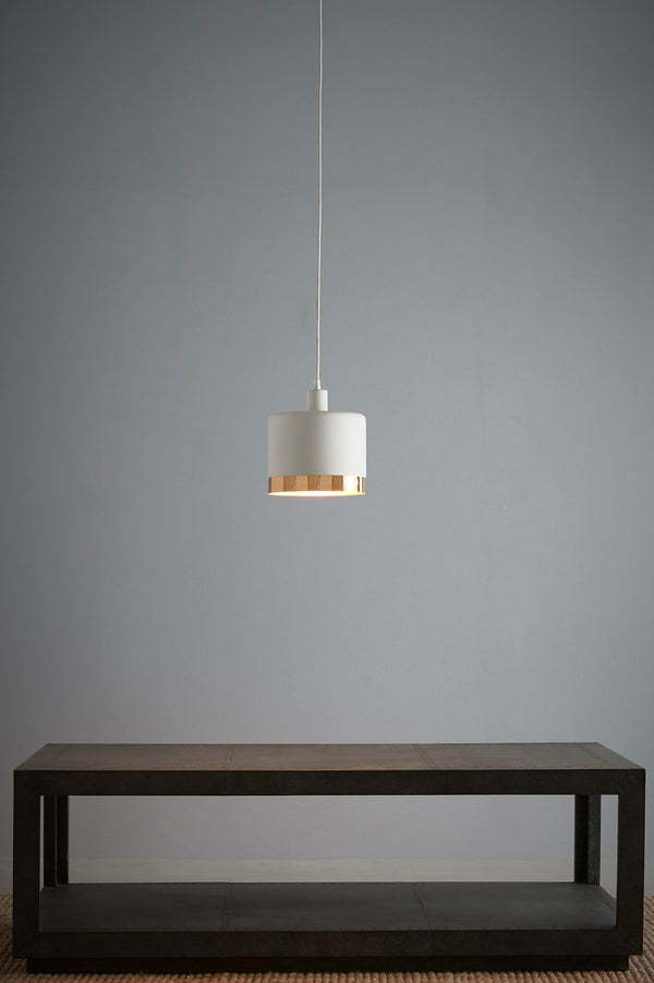 Montreux Medium - White/Gold - 2 Tone Drum Pendant Light