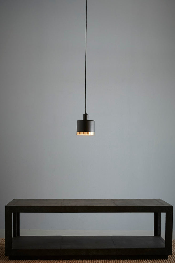 Montreux Small - Black/Gold - 2 Tone Drum Pendant Light
