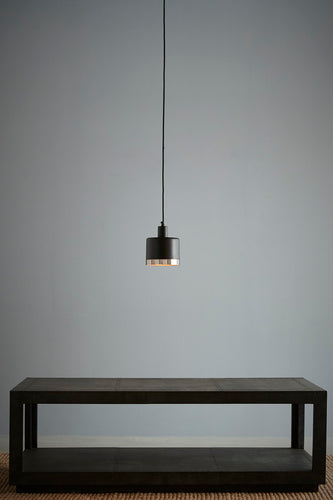 Montreux Small - Black/Nickel - Black/Nickel 2 Tone Drum Pendant Light