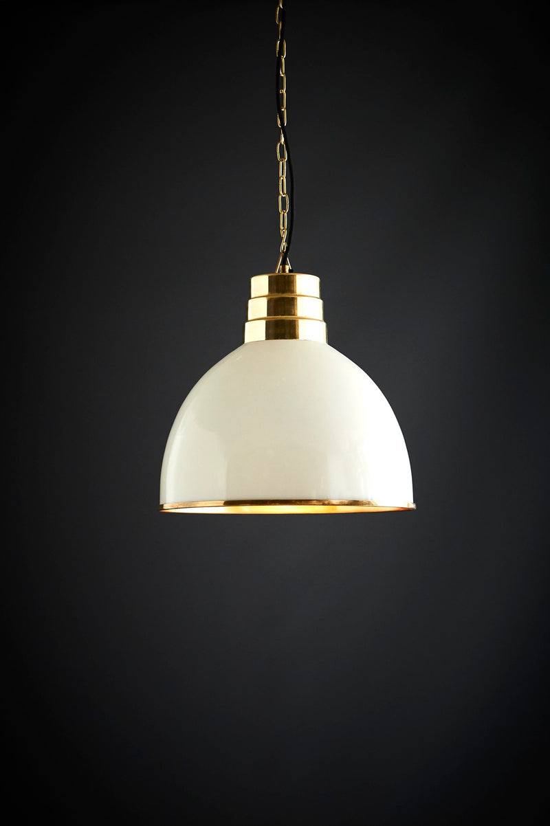 Ohio - Ivory - Tall Dome Pendant Light