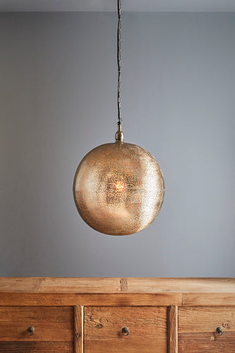 Orion Large - Nickel - Perforated Ball Pendant Light
