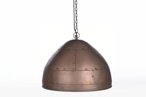 P51 Medium - Antique Copper - Iron Riveted Dome Pendant Light