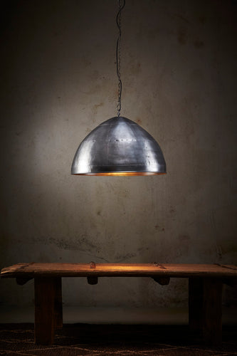 P51 Small - Zinc - Iron Riveted Dome Pendant Light