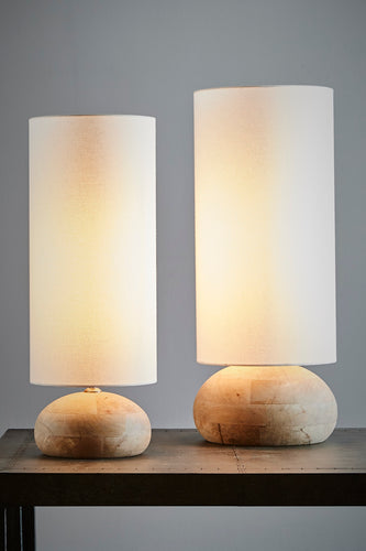 Pebble Large - Natural - Turned Wood Table Lamp