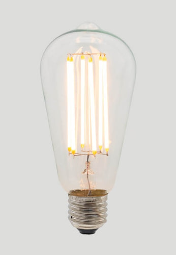 ST64 Long LED Filament - Clear Glass - 6W E27 2200k