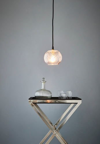 Stewart - Clear - Hand Cut Globe Glass Pendant Light