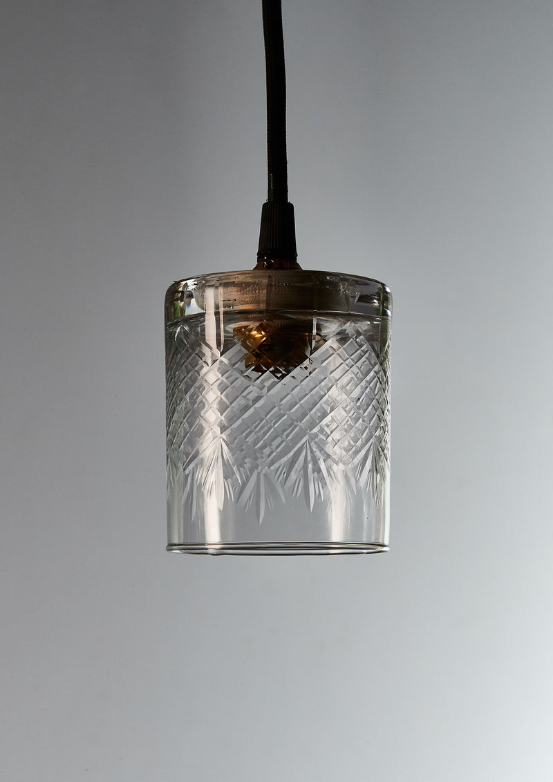 Scotch - Super Diamond Clear - Hand Cut Scotch Glass Pendant Light