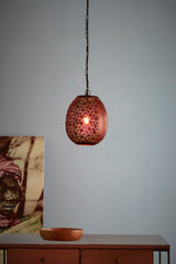 Sigma Small - Bronze - Perforated Pod Pendant Light