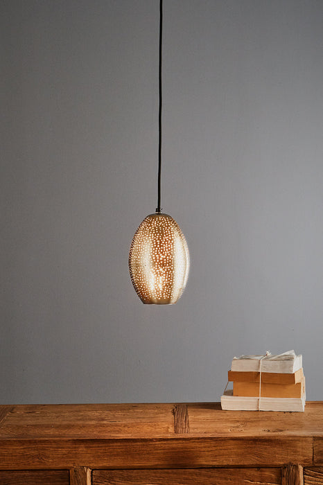 Stella - Nickel - Perforated Balloon Pendant Light