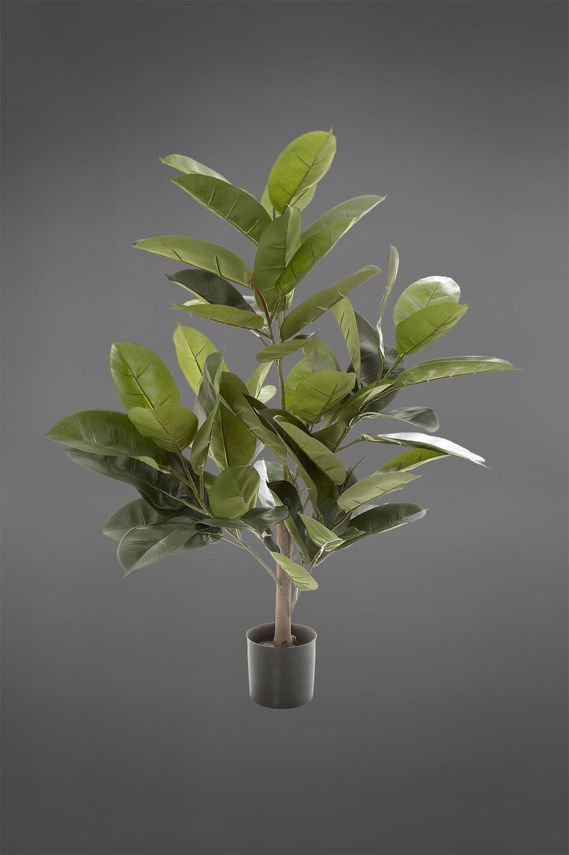 Rubber Plant Tree - Green - 96cm Tall Artificial Tree