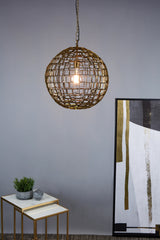 Mondrian Large - Antique Brass - Large Geometric Ball Pendant Light