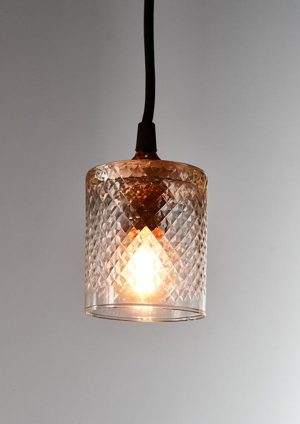 Scotch - Victorian Clear - Hand Cut Scotch Glass Pendant Light