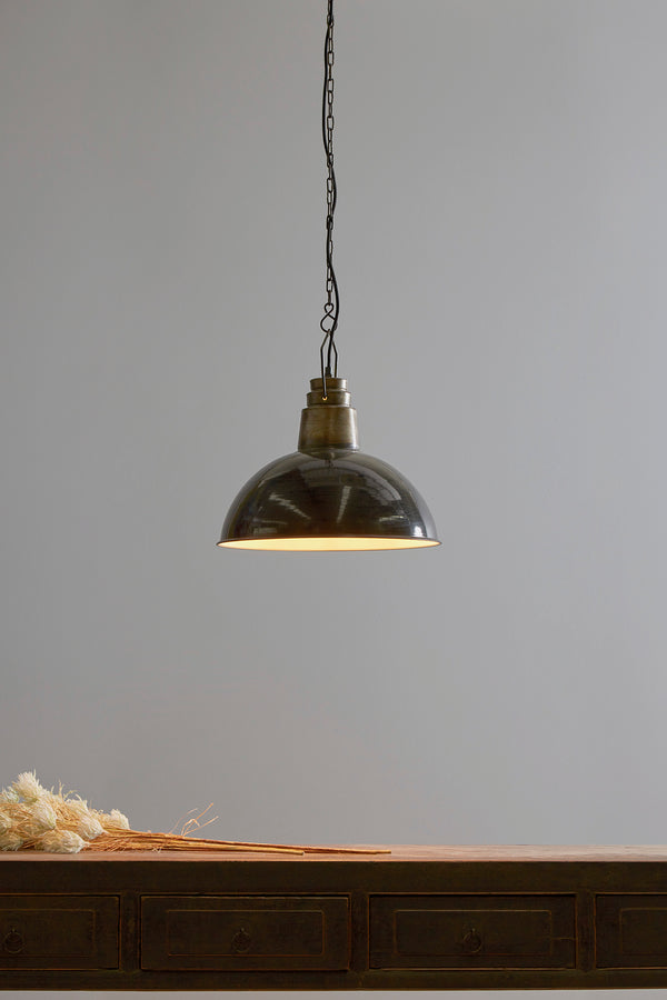 Napier - Old Black - Iron Dome Pendant Light