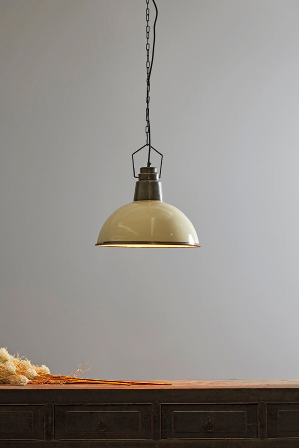 Napier - Old White - Iron Dome Pendant Light