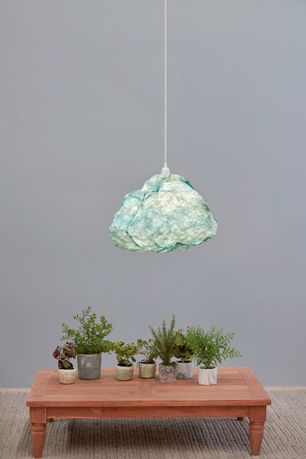 Cumulus - Sky Blue - Free Form Cloud Paper Pendant Light