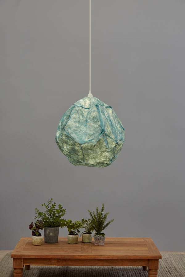 Stratus - Sky Blue - Ball Cloud Paper Pendant Light